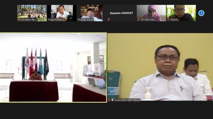 Rektor Universitas Ivet Prof Dr Rustono menyampaikan dalam sambutannya bahwa Universitas Ivet sangat senang dan menyambut baik ajakan kerjasama dengan Universitas Yapis Papua