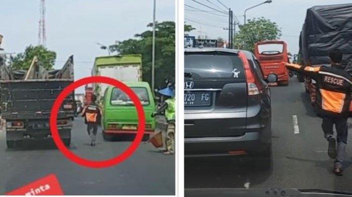 Viral Relawan Nekat Berlari Sibak Kemacetan Beri Jalan Ambulans, Aksinya Bikin Haru Netizen