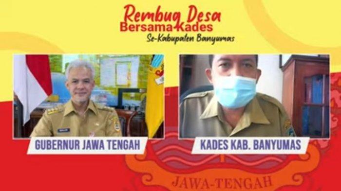 Gubernur Jateng Gelar Rembug Desa, Kades di Banyumas Tawarkan Cara Tangani Covid-19 kepada Ganjar