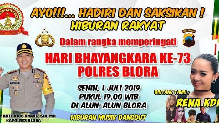 Yuk Nonton Rena KDI di Semarak Hiburan Rakyat Puncak Hari Bhayangkara Ke-73 Polres Blora