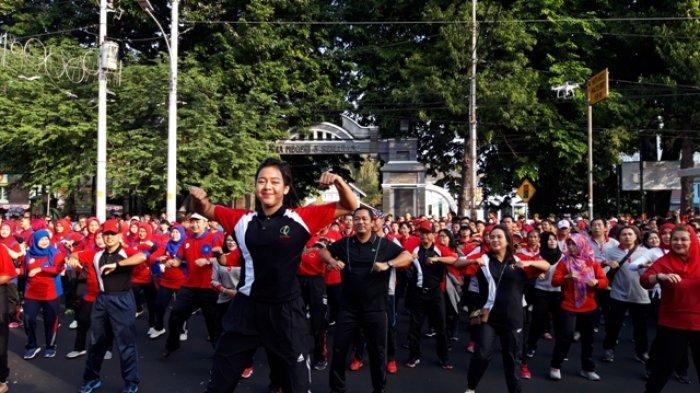 Ikut Senam di Jalan Pemuda, Wali Kota Hendi Buka Rangkaian HUT ke-472 Kota Semarang