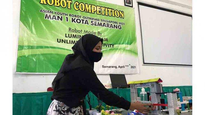 Robot MAN 1 Semarang Juara AYRO Asia Tenggara di Singapura