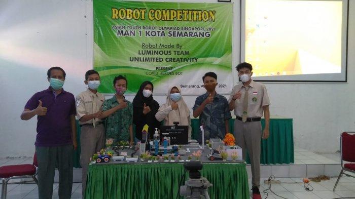 Covid Heroes Bot MAN 1 Semarang Raih Medali Emas Tingkat Asia Tenggara