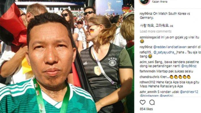 KISAH Roy Sunandar Tukang Ojek Nonton Piala Dunia di Rusia, Belum Ketemu Nasi