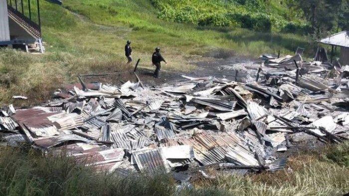 KKB Papua Bakar Rumah Kepala Suku & Guru di Beoga Puncak, Sempat Dihalau Warga
