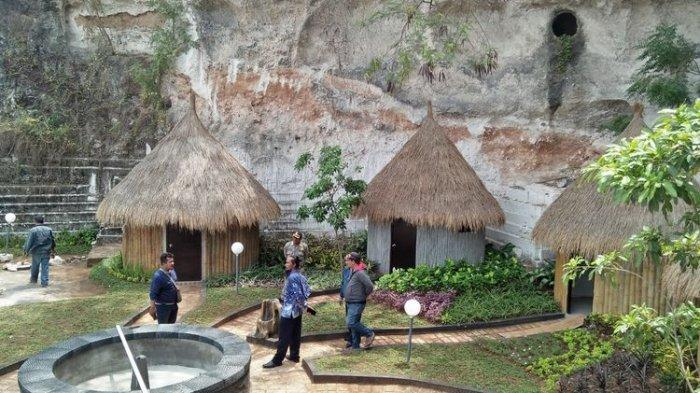 Rumah inap ala Papua yang bakal ditawarkan kepada para pengunjung di Wisata Setigi.