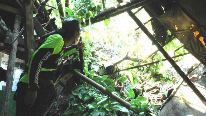 Rumah Sukari di Dusun Mlaten Desa Sumberejo, Kecamatan Kaliwungu Kabupaten Kendal longsor pada, Senin (21/6/2022) malam.