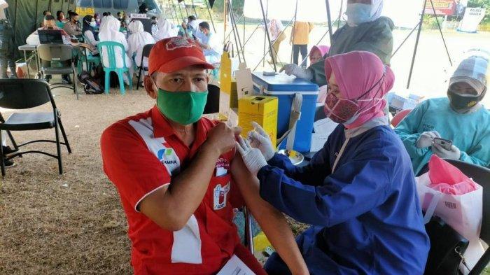 Operator dan Awak Mobil Tangki Pertamina di Sragen Mendapat Dukungan Vaksinasi dari Kepolisian