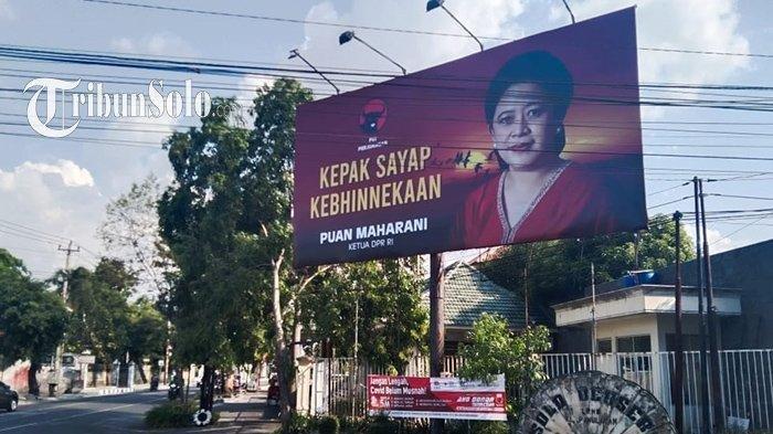 Salahsatu baliho bergambar Puan Maharani yang ada di Kota Solo.