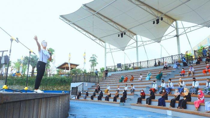 Saloka Theme Park Gratiskan Puluhan Anak Panti Asuhan Berwisata