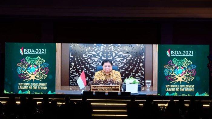 Sambutan secara virtual oleh Menteri Koordinator Perekonomian RI, Airlangga Hartanto