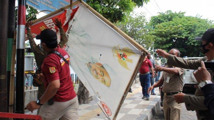 Selain Bergambar Rizieq Shihab di Kota Semarang, Satpol PP Juga Babat Baliho Ilegal
