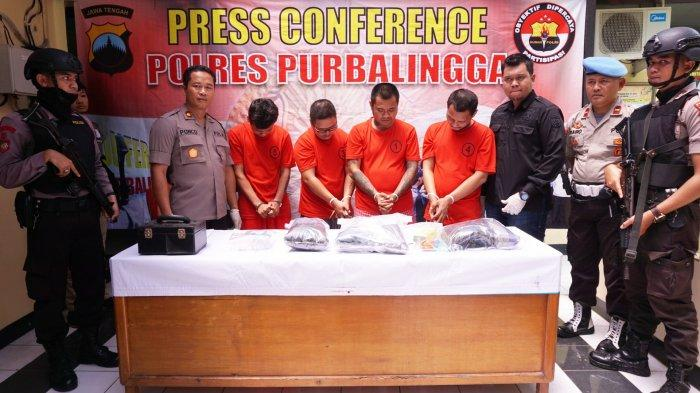Dalam Sebulan, 4 Pengedar Narkoba Jenis Sabu Ditangkap di Wilayah Hukum Polres Purbalingga
