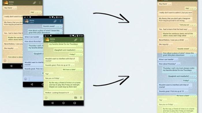 Begini Cara Screenshot Chat Whatsapp Jadi Panjang Tak Perlu Capture Berkali Kali Tribun Jateng