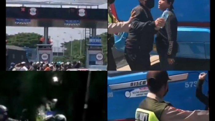 Viral Rombongan Motor Pengantar Jenazah Terobos Tol hingga Pukul Petugas, Pelaku Ditangkap