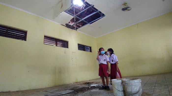 Ruang Kelas SDN 1 Garung Lor Kudus Rusak, Siswa Masuk Siang