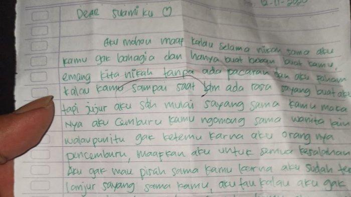 Berikut Isi Surat Wasiat Istri di Boyolali Tewas Gantung Diri, Singgung Menikah Tanpa Pacaran