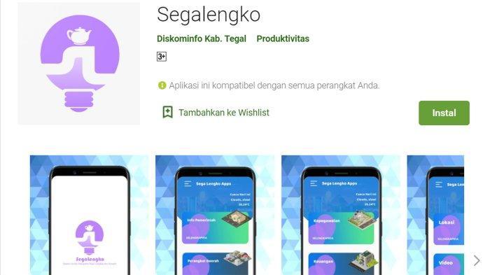 Link Download Aplikasi Pemkab Tegal: Segalengko, Dodolan Online, Sp4n Lapor