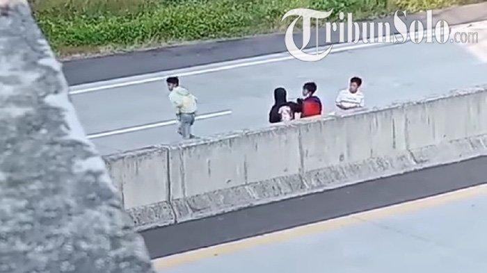 Viral 5 Bocah Masuk TolSemarang-Solo di Boyolali, Hanya untuk Bikin Konten Truk Melintas