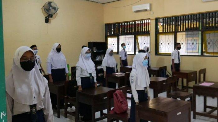 Persiapan Hadapi Ujian Sekolah, Siswa Kelas IX SMPN 3 Mranggen Ikuti Simulasi Tatap Muka