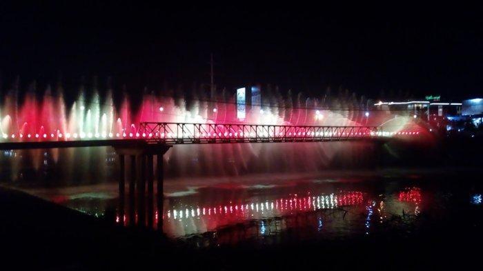 Banyak Pengunjung Semarang Bridge Fountain Tidak Taat Prokes