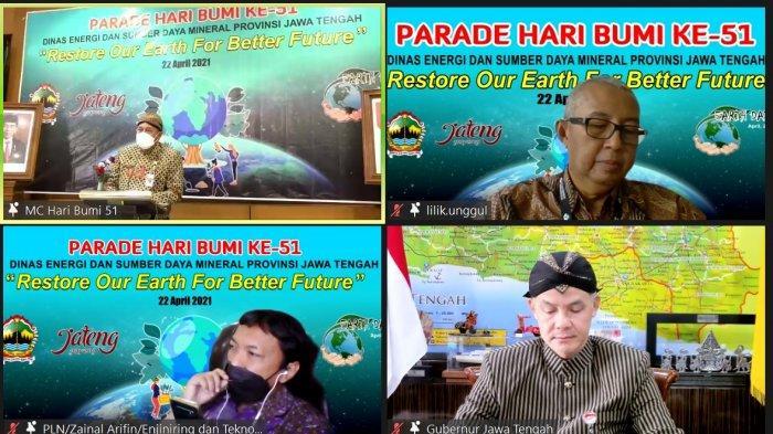 Seminar online Parade Hari Bumi ke 51 tahun 2021 tingkat Jawa Tengah