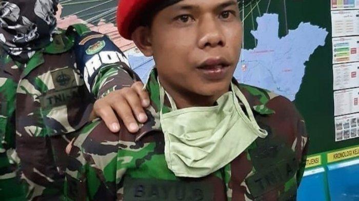 Pakai Baret Merah Anggota Kopassus Gadungan Terciduk di Warung Kopi, Mengaku Dinas diBatujajar