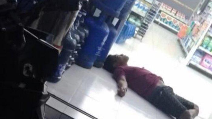 Seorang Pria dengan Bekas Luka Bacok Ditemukan Tergeletak di Minimarket Semarang