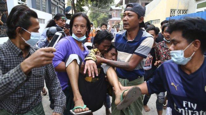 Disebut Hari Paling Berdarah, 18 Demonstran Penentang Kudeta Militer Myanmar Tewas dalam Sehari