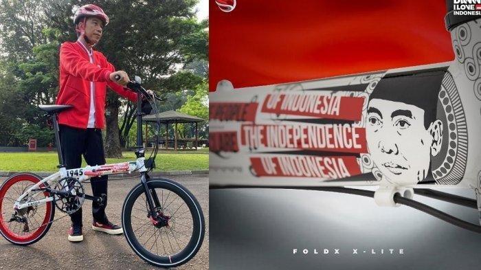 Penampakan Sepeda Gowes Lokal Edisi Kemerdekaan Dipamerkan Jokowi, Diburu Meski Harga Fantastis