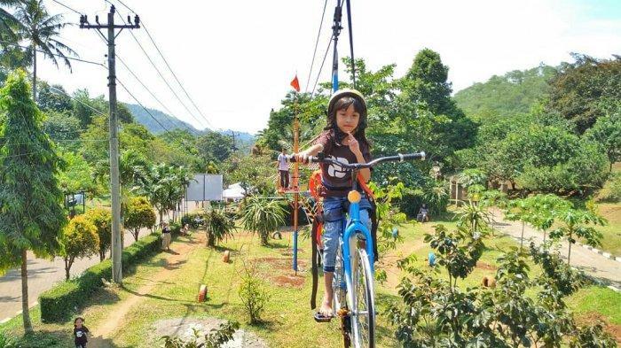 Cuma Rp 35 Ribu Menikmati Sensasi Sepeda Udara di Wisata Agro Kampoeng Kopi Banaran Bawen