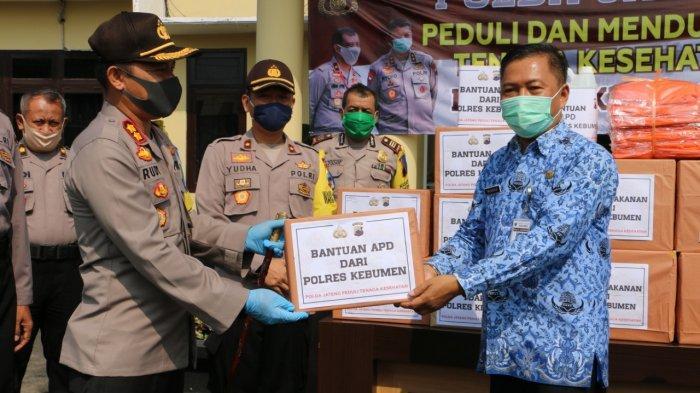 Polisi di Kebumen Patungan Bantu Tenaga Kesehatan yang Berjuang Lawan Virus Corona