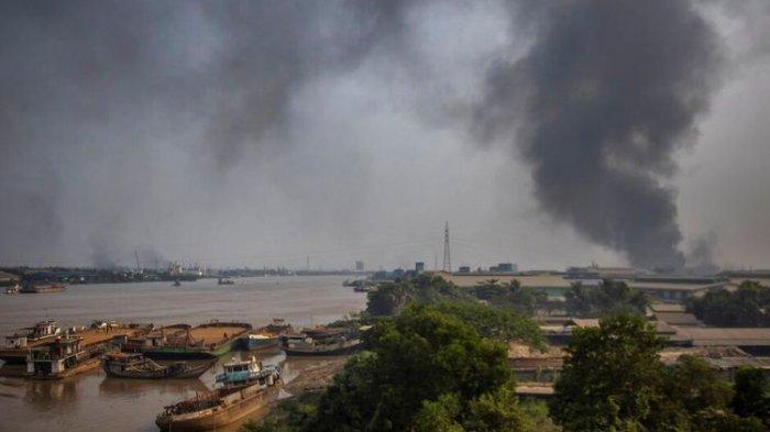 Myanmar Memanas,Sejumlah Pabrik China Dibakar, Perusahaan Taiwan Diminta Kibarkan Bendera
