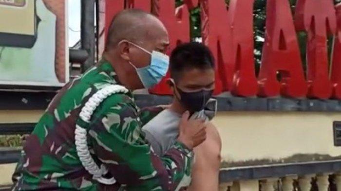 Tuntut Keadilan bagi Sang Anak, Anggota TNI Menangis di Mapolres Pematangsiantar
