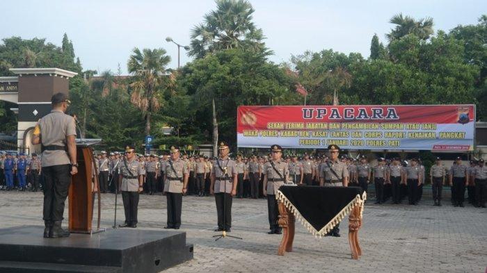 Tiga Perwira Polres Pati Dapat Tugas Baru, Berikut Nama dan Jabatannya