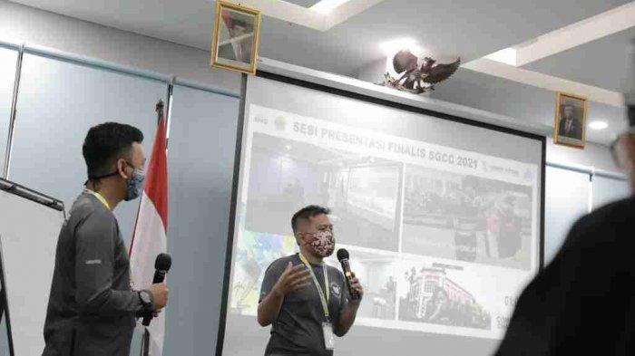 Sesi pemaparan laporan kegiatan dari komunitas Semarang Runners. Semarang Runners menjadi satu-satunya perwakilan dari tuan rumah, Semarang. Jumat (04/06/2021).