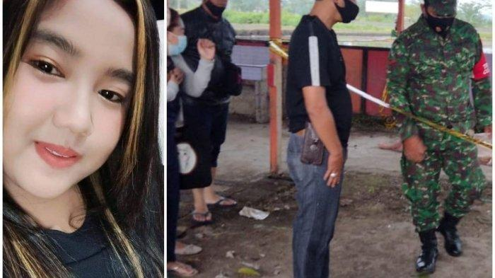 Setia Nurmiati (21) yang biasa dipanggil Ayu semasa hidup. Petugas saat melakukan olah TKP.