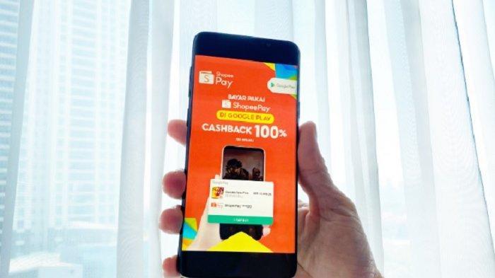 Cara Bayar Aplikasi dan Game di Playstore dengan ShopeePay, Ada Promo Cashback 100%