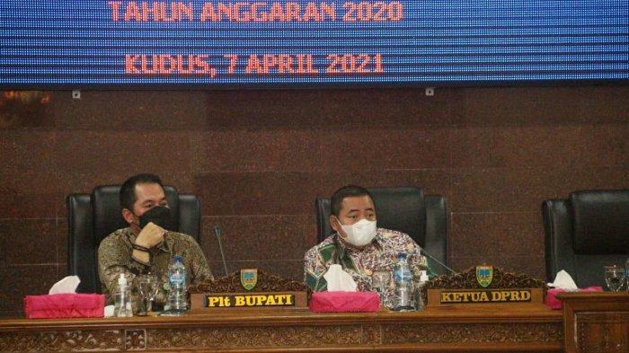 Hadiri Sidang Paripurna, Plt Bupati Kudus HM Hartopo Sampaikan LKPJ Tahun 2020