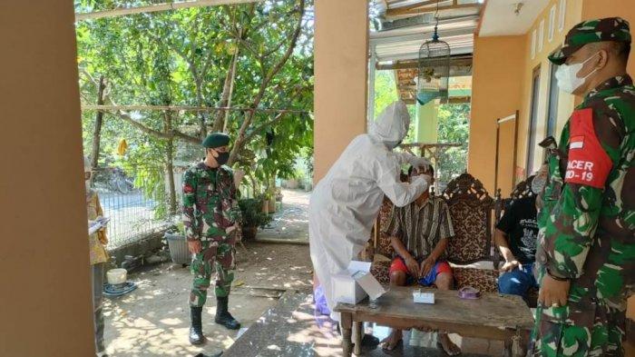 TNI-Polri Tracking Warga yang Isolasi Mandiri di Desa untuk Cegah Penyebaran Covid-19 di Kudus