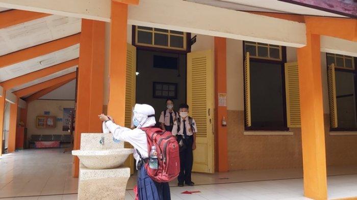 Uji Coba PTM di Tegal, Siswa Wajib Cuci Tangan saat Datang dan Pulang