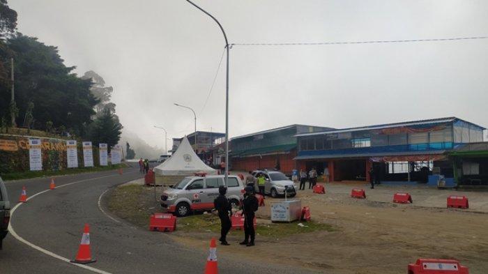 Arus Lalu Lintas di Pos Penyekatan Cemoro Kandang Tawangmangu Karanganyar Lengang H-1 Lebaran