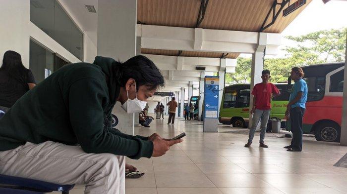 Penumpang di Terminal Bulupitu Purwokerto Melonjak Pasca Aturan Larangan Mudik Berakhir