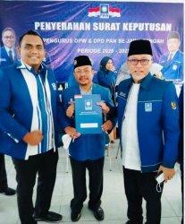 Candra Saputra Resmi Terima SK DPD PAN  Kabupaten Pekalongan