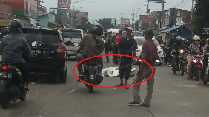 Lokasi kejadian Sohimah kecelakaan terlindas truk Purbalingga.