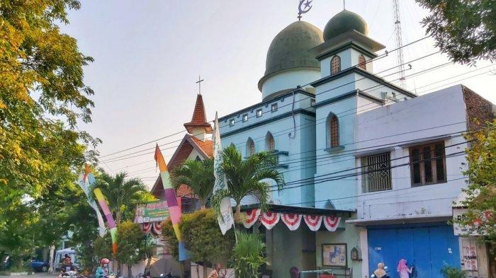 Toleransi Umat Beragama, Gereja dan Masjid di Solo Ini Berdampingan