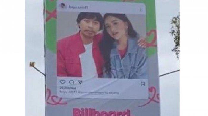 Pasang Billboard Rangkul Amanda Manopo, Bayu Setiawan Ngaku Sebagai Mantan dan Ungkap Keinginannya