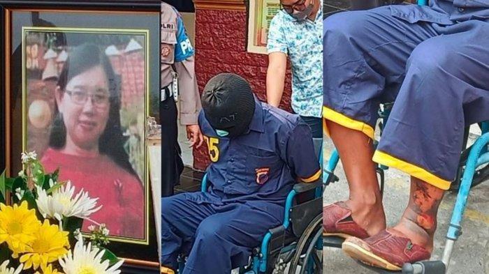 Sosok pembunuh keji Yulia (42), Eko Prasetyo saat ditunjukkan ke publik di Mapolres Sukoharjo, Jumat (23/10/2020). (TribunSolo.com/Agil Tri)
