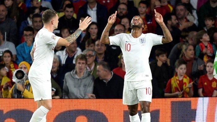 Spanyol Vs Inggris : Raheem Sterling dan Rahsford Antarkan Inggris Benamkan Spanyol 3-2