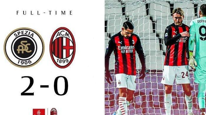 AC Milan Senasib Juventus Dipermalukan Spezia Tim Promosi Menunggu 114 Tahun